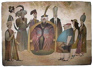 THE ENCOUNTER WITH THE SULTAN SELIM III. - Click here for bigger picture