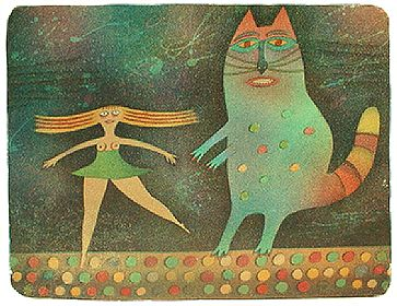 A CAT AND A DANCER - Click here for bigger picture