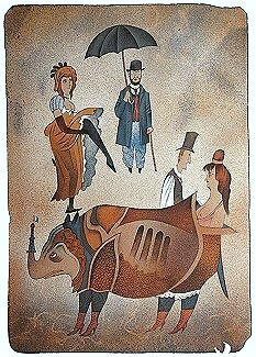 LANDING OF TOULOUSE LAUTREC ON MOULIN ROUGE - Click here for bigger picture