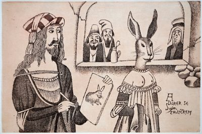 ALBRECHT DURER WITH HIS BUNNY - Click here for bigger picture