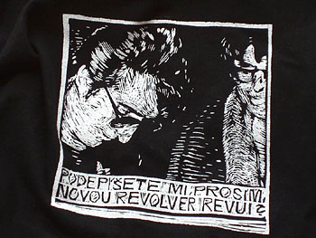 PRINTING OF T-SHIRT, REVOLVER REVUE - Click here for bigger picture
