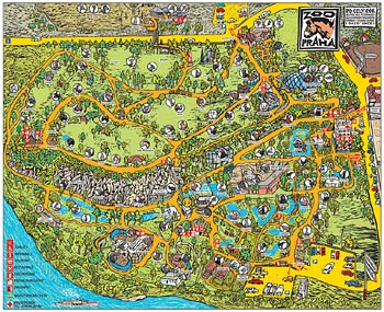 MAP OF ZOO PRAGUE - Click here for bigger picture