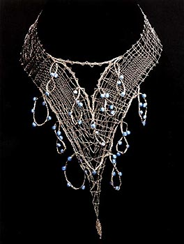THE SILVER NECKLACE WITH BEADS - Click here for bigger picture