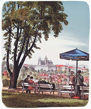 PRAGUE FROM NEBOZIZEK - Click here for bigger picture