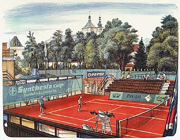 TENNIS COURTS IN PARDUBICE - Click here for bigger picture